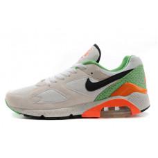 Nike air max 180 серый с оранжевым